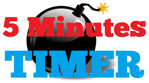5 Mins Timer 5 Minutes Countdown Timer Alarm Clock Youtube