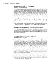 Sample Surveys Questionnaires Appendix F Sample Questionnaires For Passenger Surveys Guidebook