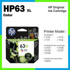ori hp original ink cartridge hp 63 xl color 1114 2131 2133 2134 2136