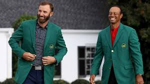 Tiger Woods teases Dustin Johnson in Masters Champions Dinner tweet