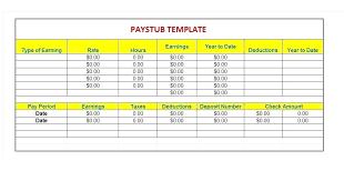 Free Paycheck Stubs Payroll Stubs Template Wsopfreechips Co