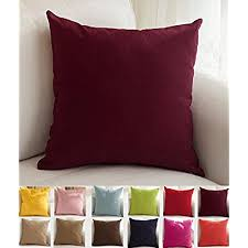 maroon decorative pillows. Brilliant Decorative TangDepot Cotton Solid Throw Pillow Covers 12 Inside Maroon Decorative Pillows U