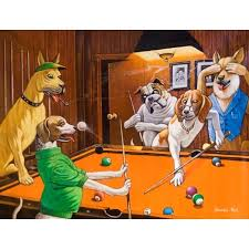 dogs playing pool comical print the scratching beagle by dogs playing pool dogs playing pool prints