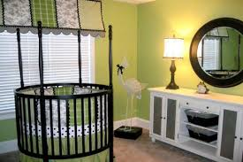 green baby furniture. View In Gallery Boys\u0027 Nursery With A Unique Green Theme And Round Crib Baby Furniture