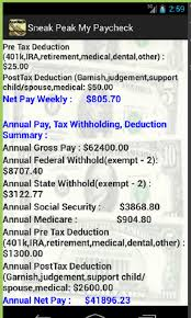Paycheck Calculator Salary Or Hourly Plus Annual Summary Of Tax Holdings Deductions Free