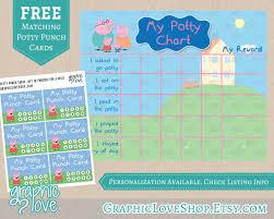 Digital Peppa Pig Potty Training Chart Free Punch Cards