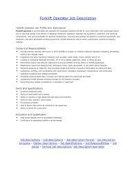 Brilliant Ideas Of Warehouse Forklift Operator Job Description Cms