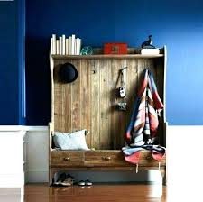 entryway hall tree with storage bench baskets coat rack and mail key hooks