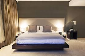 Modern bedroom with full bed