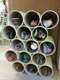 DIY Shoes storage from PVC