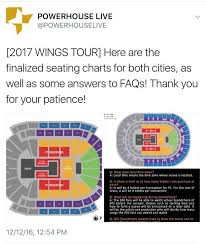 Bts Seating Chart