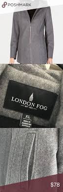 Nwot London Fog Gray Walker Coat Stylish And Sophisticated