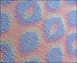 Gallery – 2015 | EVA STOSSEL'S WEAVING BLOG & Turned Taquete Variation, fabric woven on 12 shafts, pearl cotton warp,  acryllic weft Adamdwight.com