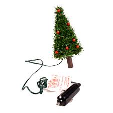 18cm Plug In Car Christmas Tree With 12 Red LED Fairy Lights