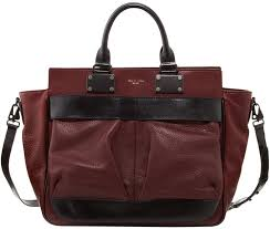 rag and bone rag bone pilot large leather satchel bag wine