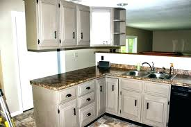gray chalk painted kitchen cabinets