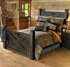 cabin furniture ideas. image detail for rustic black distressed barn door bed queen reclaimed furniture cabin ideas r