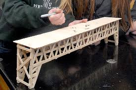 Popsicle Stick Bridge Designs Port Angeles High School Students Win Awards For Popsicle