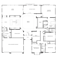 well suited design one story house plans with bedrooms on same side 12 25 best ideas