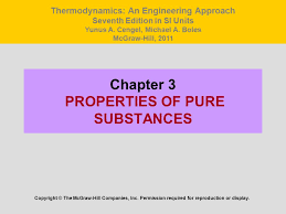 Chapter 3 PROPERTIES OF PURE SUBSTANCES - ppt video online download