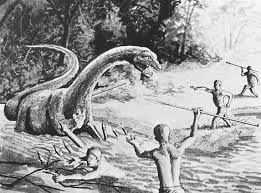 Image result for man living with dinosaurs