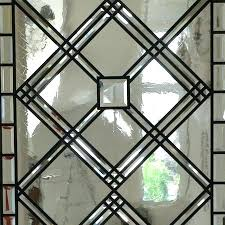 stained glass door insert wrought iron