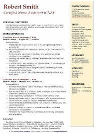 Sample Certified Nursing Assistant Resume Nursing Assistant Resume Sample Philippines Thessnmusic Club