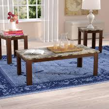 charlton home colmer 3 piece coffee table set in brown reviews sets big lots colmer3piececoffeetablesetin