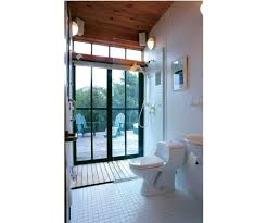 outdoor bathroom synopsis a designer describes his small sq ft bathroom that features a shower with