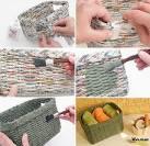 Схемы плетения из газетных трубочек для начинающих