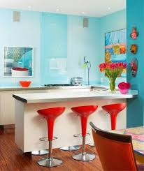 kitchen engaging colorful decoration using light blue