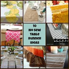10 no sew table runner ideas