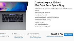 Maxed Out 15-Inch MacBook Pro Priced at $6,699 for 2.9GHz Chip, 32GB RAM  and 4TB SSD - MacRumors