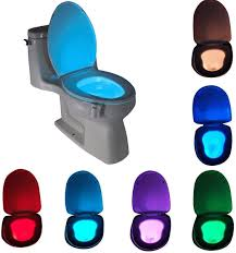 Toilet Bowl Light Motion Sensor Led Toilet Night Light Komire Light Detection Motion Activated Toilet Light With 8 Color Changing Battery Operated Waterproof Washroom