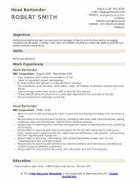Head Bartender Resume Samples Qwikresume