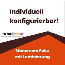 Monomere Folie Mit Laminierung Preiswert Bei Geniusprint