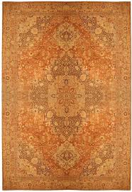 strikingly orange persian rug oversized antique haji jalili tabriz 41353 nazmiyal