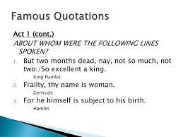 Hamlet Unit Study Guide Ppt Download