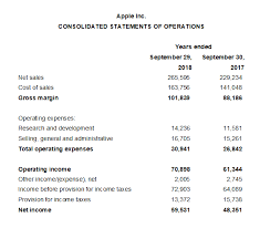 operating statement format income statement format double entry bookkeeping