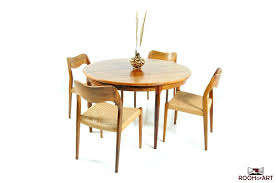 round danish dining table in palisander