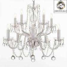 10 light empress crystal chandelier with faceted crystal