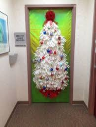 christmas office door decorating. Christmas Door Decor For Nurses! Made From Surgical Gloves And A Biohazard Bag Office Decorating O