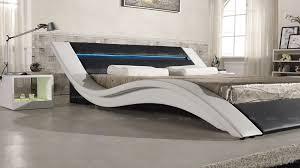 A516-1 modern latest design led leather stylish bed