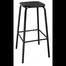 hastings black fully galvanised indoor or outdoor high stool high bar stools o80
