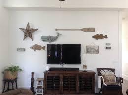 wall decor around wall mounted tv