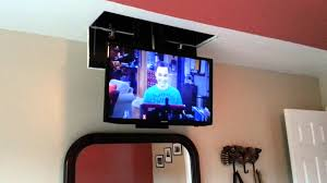 Homemade TV Lift In Bedroom YouTube - Bedroom tv lift cabinet