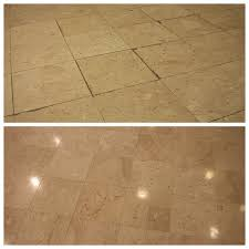 marble floors with dirty grout joints red by p mac