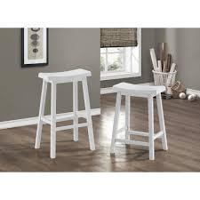 white saddle stool. Fine White Monarch Specialties Saddle Seat 24 In White Bar Stool Set Of 2 On 2