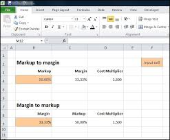 Margin Markup Calculator And Converter Double Entry