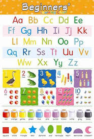 Learning Chart Kids Learning Charts English Alphabets Counting Color Name Shape Educational Poster Learning Chart 100yellow Paper Print